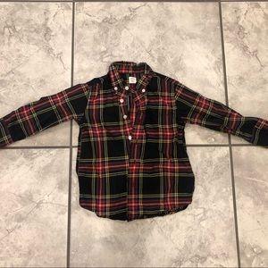 Boys' button down shirt in Stewart plaid
